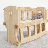 C - Wooden Doll's Cot