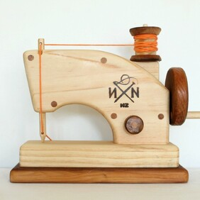 F - Wooden Toy Sewing Machine