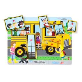 Melissa & Doug - The Wheels of the Bus Wooden Sound Puzzle