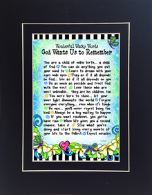 Gift Card - Suzy Toronto - Words God Wants Us To Remember