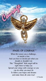 z Affirmation Angel Pin - Angel of Courage