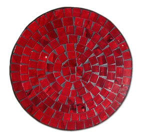 Mosaic Placemat Round 30cm / Red