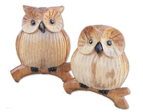 Wooden Owl / Large