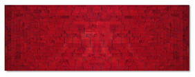 Mosaic Table Runner 80 x 30cm / Red