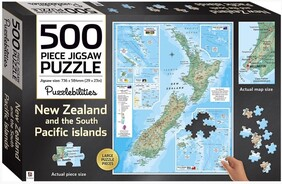 500pc New Zealand Map Jigsaw Puzzle