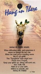 z Affirmation Angel Pin - Hang in There Angel