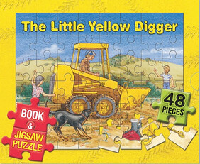 The Little Yellow Digger - Book and Jigsaw