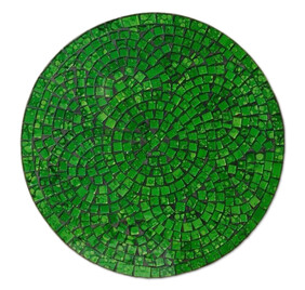 Mosaic Placemat Round 30cm / Lime
