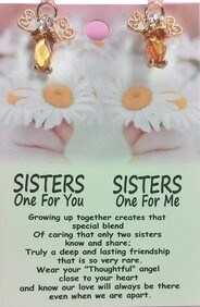 z Affirmation Angel Pin - Sisters, one for you - one for me
