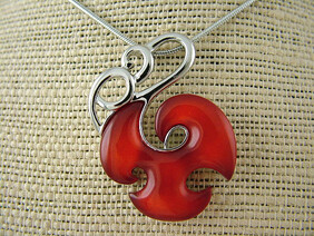 Necklace - Red Manaia Necklace