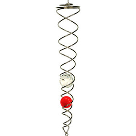 Wind Chime - Crystal Spinner / Red & Clear