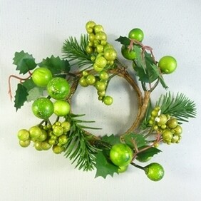 Green Berry Candle Ring