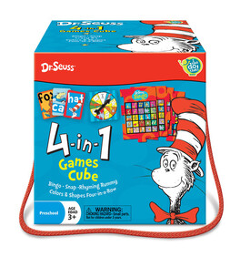 Dr Seuss Cat in the Hat - 4-in-1 Games Cube
