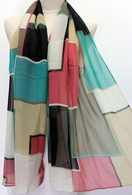 Scarf - Bold Block Abstract - Green