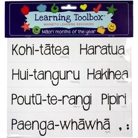 Learning Toolbox Magnets / Te Reo Maori Months