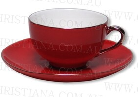Lady Sienna Red Cup & Saucer