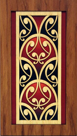 NZ Made Wooden Wall Panel / Kowhaiwhai - fish scale