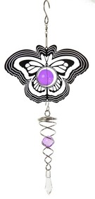 Wind Spinner - Pink Butterfly