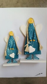 Freestanding Angel With Heart - Turquoise