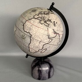 Vintage Globe on Marble Base