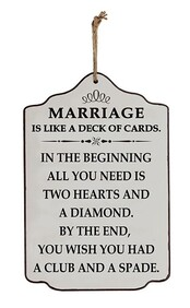 Wooden Sign - Marriage