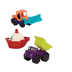 Battat - Loaders and Floaters Playset 3 Mini Vehicles
