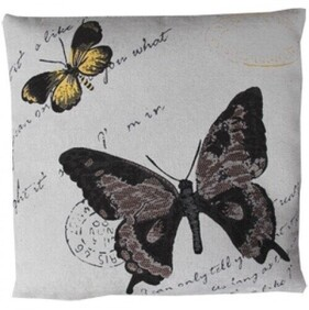 Cushion - Stamped Brown Butterfly