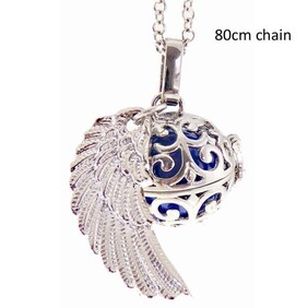 Necklace - Angel Caller Necklace / Ball with Angel Wing