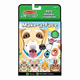 Make a Face - Pets Reusable Stickers Pad