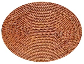 Rattan Cane Placemat - Natural - Oval