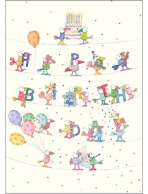 Twigseed A4 Gift Cards - Happy Birthday