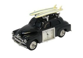 Retro Surf Car Clock with Surfboards
