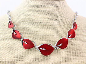 Necklace - Red Lilies Necklace
