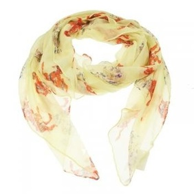 Scarf - Yellow Horse