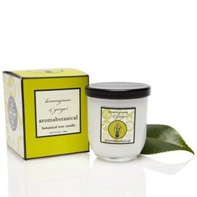 Aromabotanical Soy Wax Candle 185grams / Lemongrass and Ginger