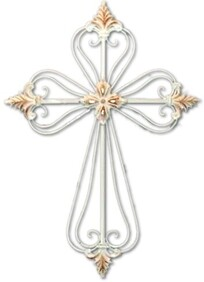 Leaf Centre and Tip Iron Cross White