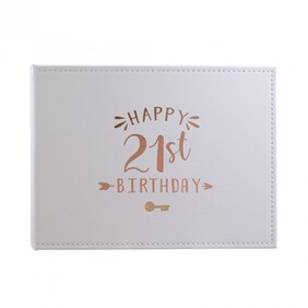 21st Birthday Guest Book - Rose Gold
