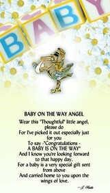 z Affirmation Angel Pin - Baby on the Way Angel