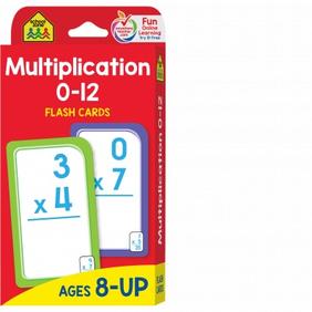 School Zone Flash Cards - Multipication 0-12(NC)