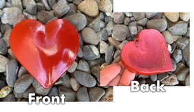 Small Pottery Heart / Red