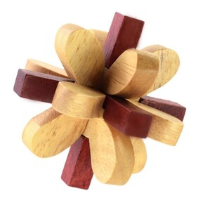 Bamboo Puzzle - 3D Flower
