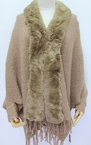Cape - Sleeved with Fur Trim