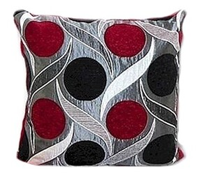 Cushion - Silver & Red Dots