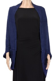 Dual Use Shrug and Scarf - Navy