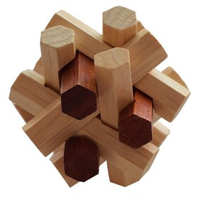 Bamboo Puzzle - 3D Star