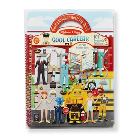 Melissa and Doug - Cool Careers Puffy Stickers Album