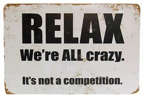 Rustic Relax Tin Sign