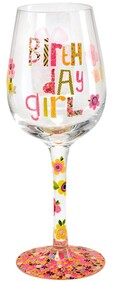 Wine Glass - Here's To You Birthday Girl