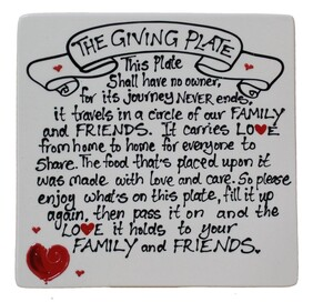 NZ Made Handpainted - The Giving Plate