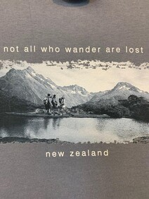 NZ Made Clothing - Not all who wander are lost - T-Shirt